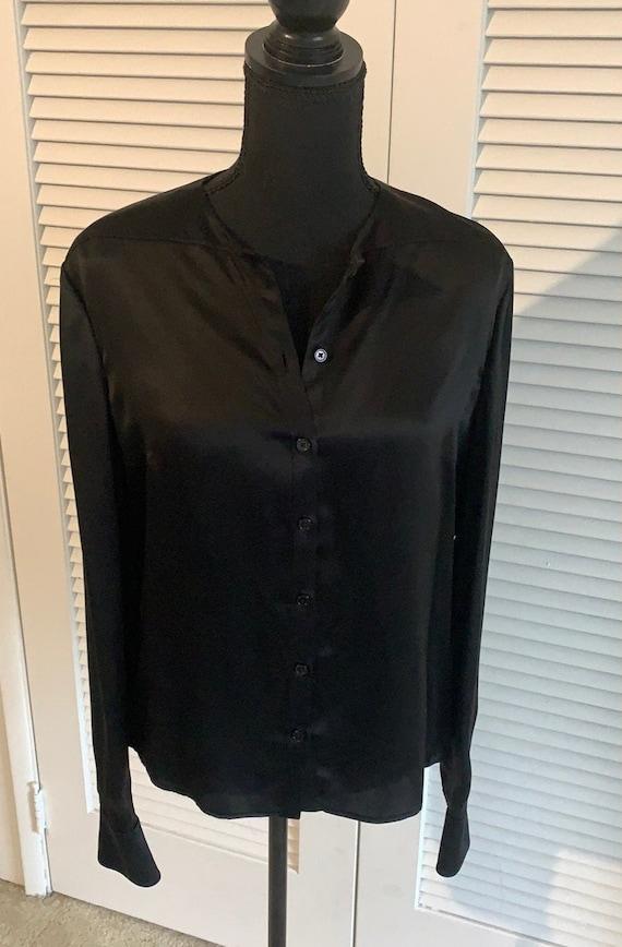Vintage Valentino black silk blouse