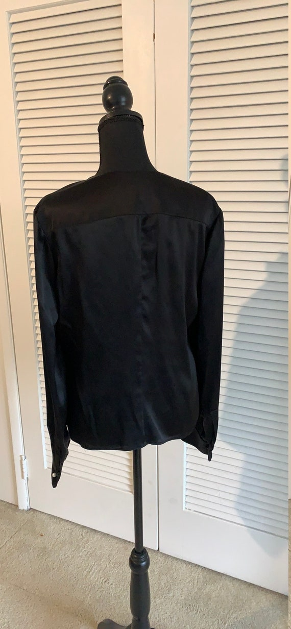 Vintage Valentino black silk blouse - image 3