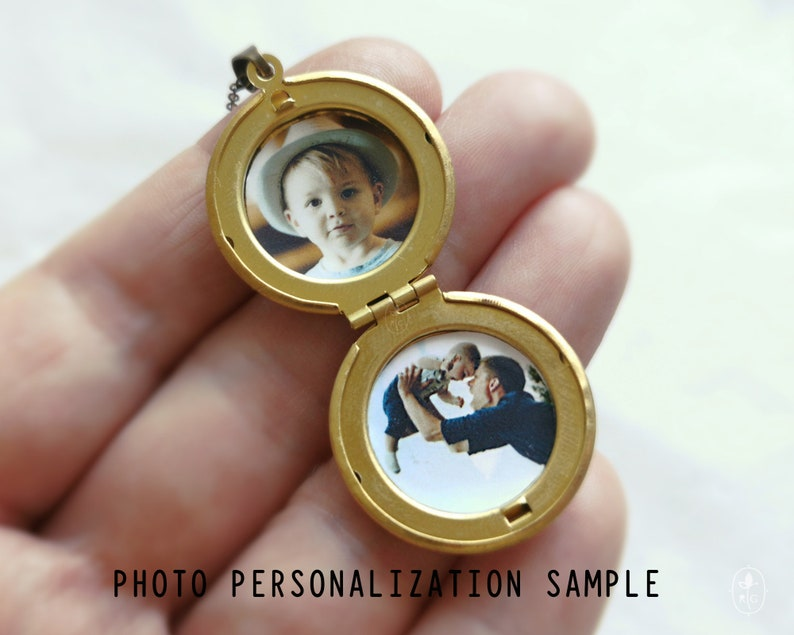 Locket with photos Turtle necklace Custom locket with pictures Medallion necklace Personalized jewelry Vintage lovers gift