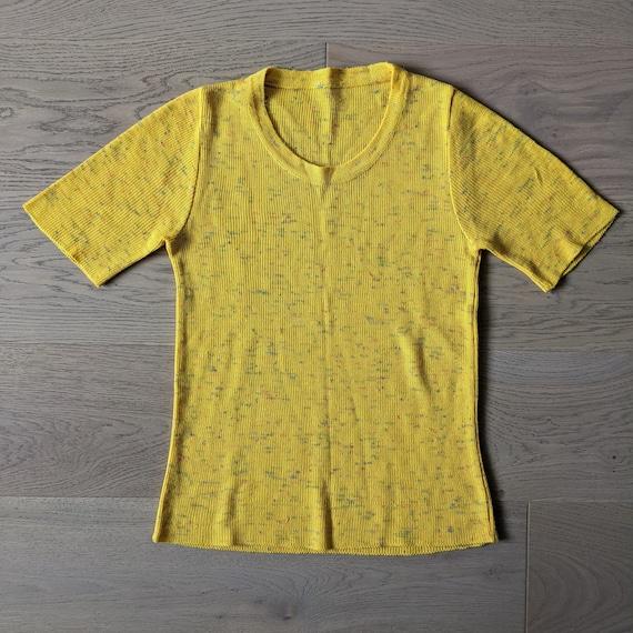 1970s Yellow Knit T-shirt