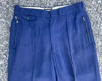"Vintage 1940s ""Edelweiss"" High Waisted Rayon Stirrup Ski Pants"
