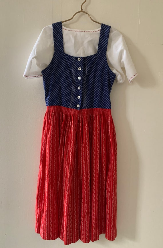 1970s Eastern European Dirndl Dress Size 42 (M)