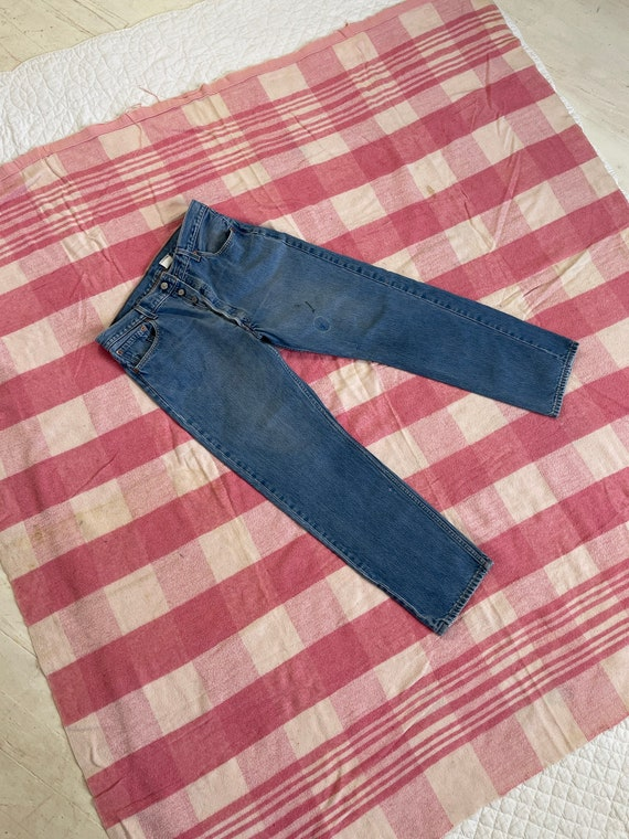 Vintage 1990s Faded Levis 501 Button Fly Jeans 34x
