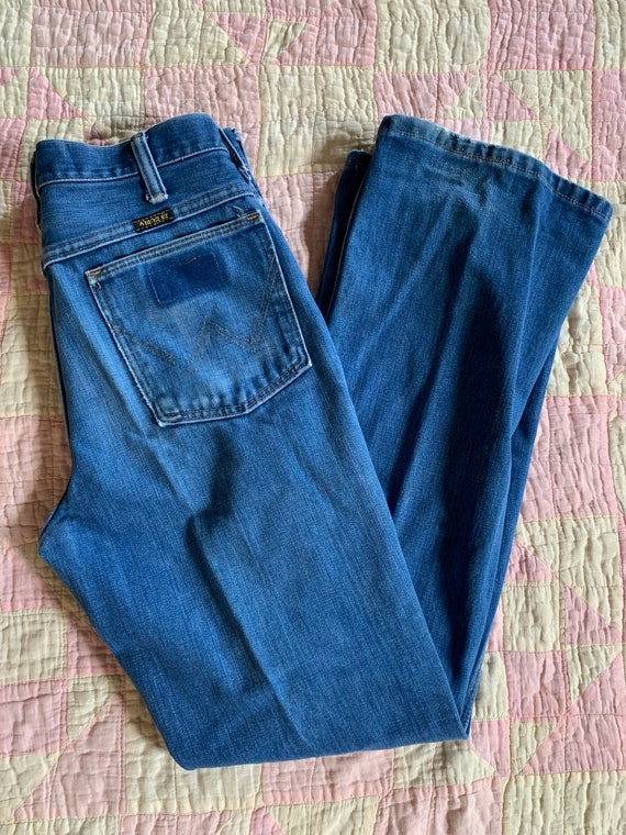 "1970s Faded Wranglers Size 30""x32"""