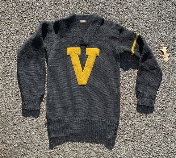 Vintage 1930s Burke and Co Wool Letterman Sweater