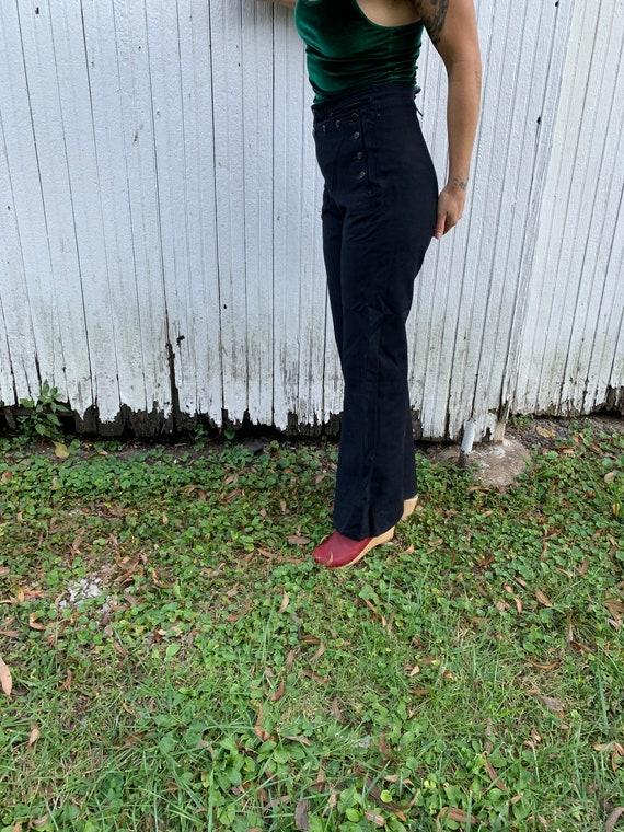 1940s Satin Lined Sailor Pants Size 30x32 - image 2