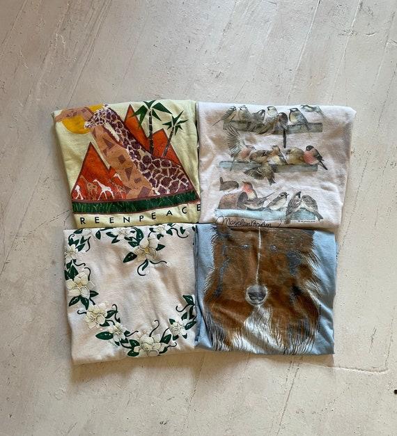 Vintage 1980s Wholesome Single Stitch Tee Bundle (