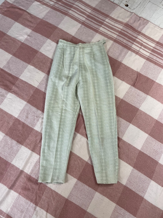"Vintage 1960s 24"" waist/ high waist / side zip kn… - image 7"