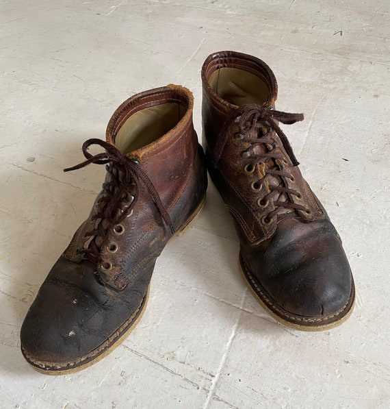 Vintage 1960s Mens Work Boots Size USA 10.5