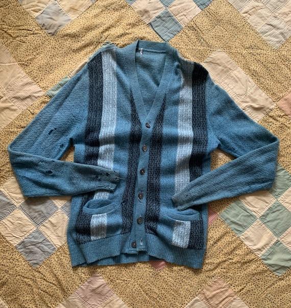 Vintage 1950s Wool Men's Cardigan Thrasher Size M