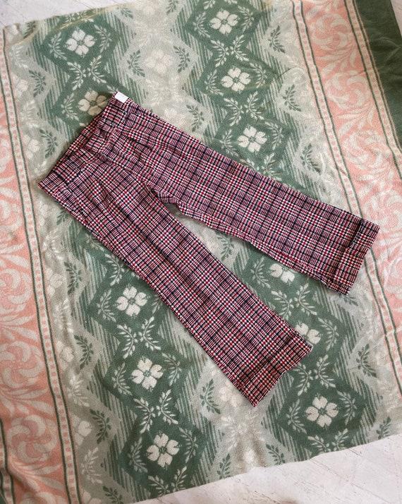 Vintage 1970s Dead Stock cotton corduroy block pr… - image 1