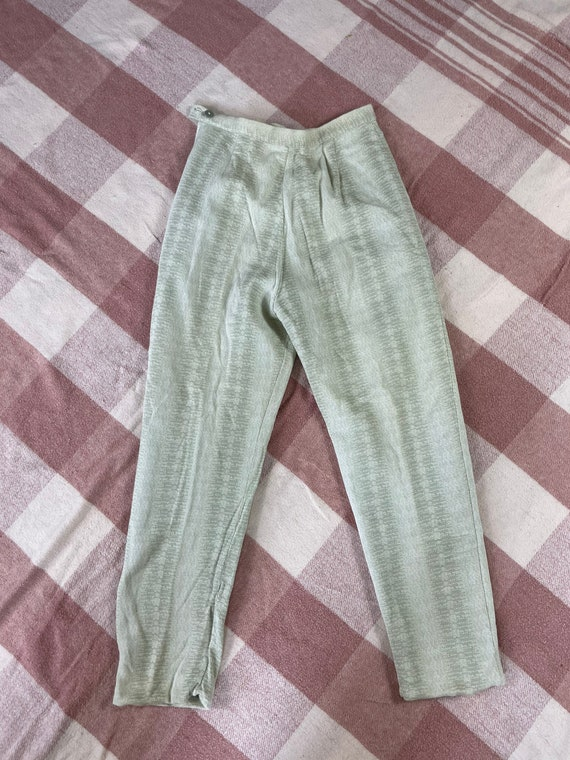 "Vintage 1960s 24"" waist/ high waist / side zip kn… - image 2"