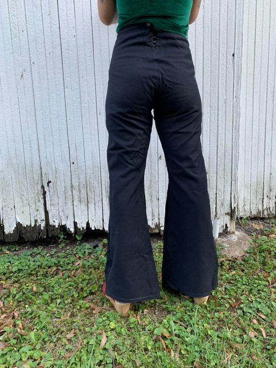 1940s Satin Lined Sailor Pants Size 30x32 - image 1