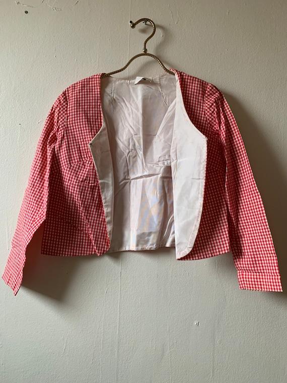 Vintage 1950s-1960s Gingham Sportscoat Size S