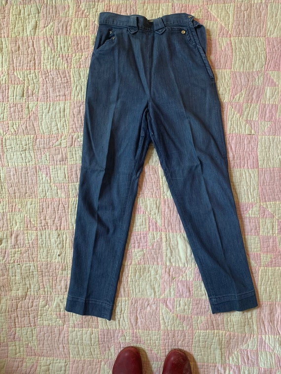 "1950s Lee ""Frontier Lady"" Side Zip Jeans with Stre"