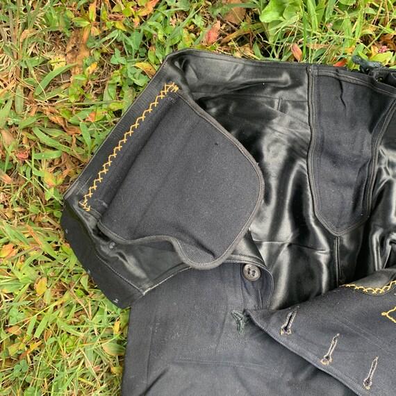 1940s Satin Lined Sailor Pants Size 30x32 - image 8