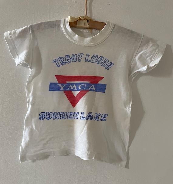 Vintage 1950s Cotton Knit YMCA Tee Women's XS