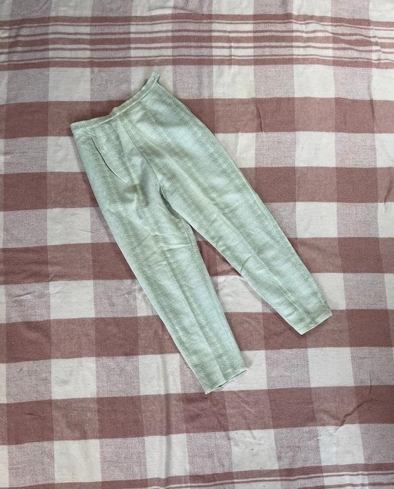 "Vintage 1960s 24"" waist/ high waist / side zip kn… - image 1"