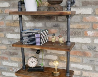 Industrial Wall Shelve Unique Metal Furniture Rustic Stylish Pipe Design Urban Bookcase Vintage Display Cabinet Floating Shelves Farmhouse