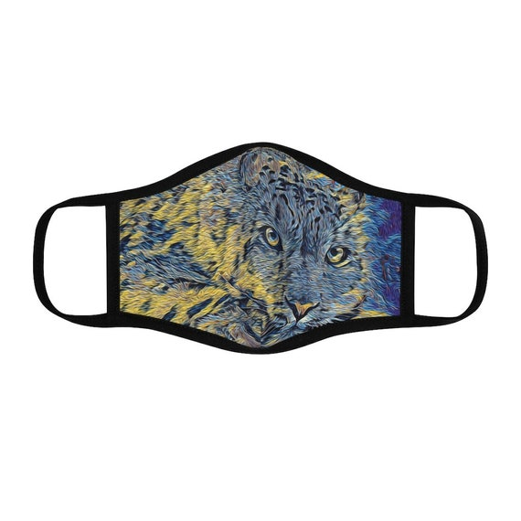 Filter Pocket Facemask- Laying Leopard Chalky Yellow