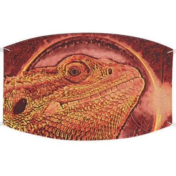 Facemask- Bearded Dragon Molten Eclipse