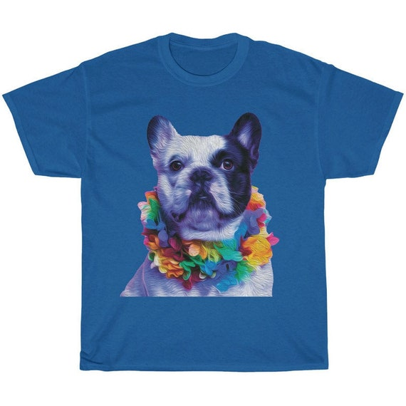 French in Hawaii Royal Blue Shirt