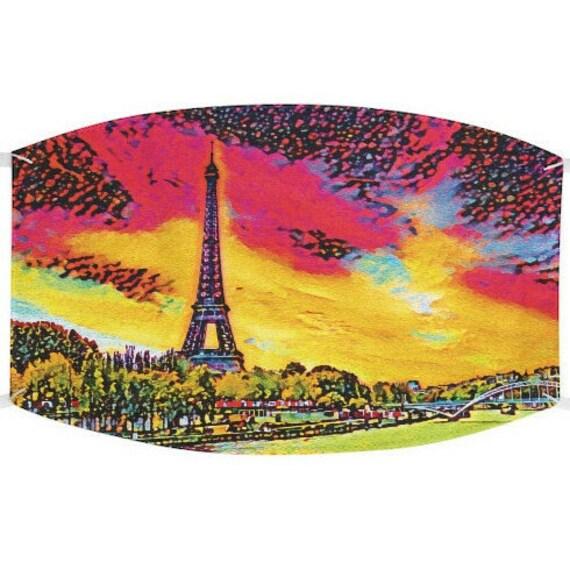 Facemask- Eiffel Tower Sunrise