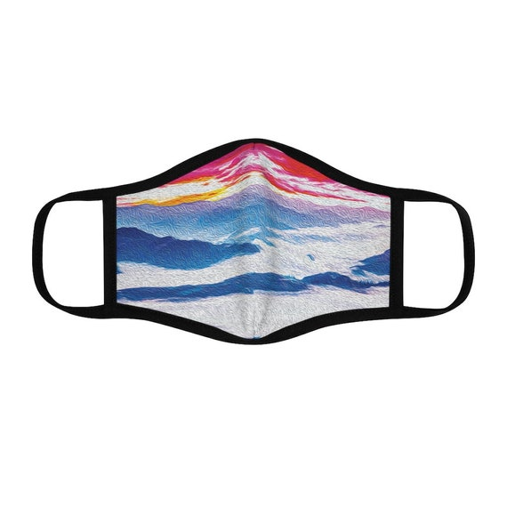 Filter Pocket Facemask- Cloudy Mountain Morning