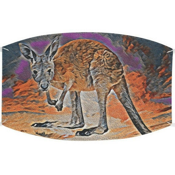 Facemask- Kangaroo Orange