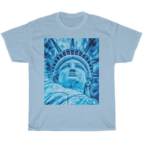 Light Blue Statue of Liberty Shirt