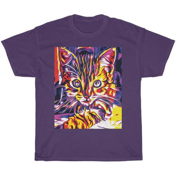 Cute Cat Paint Shirt
