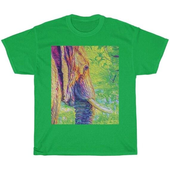 Green Elephant Majestic Animal T-Shirt