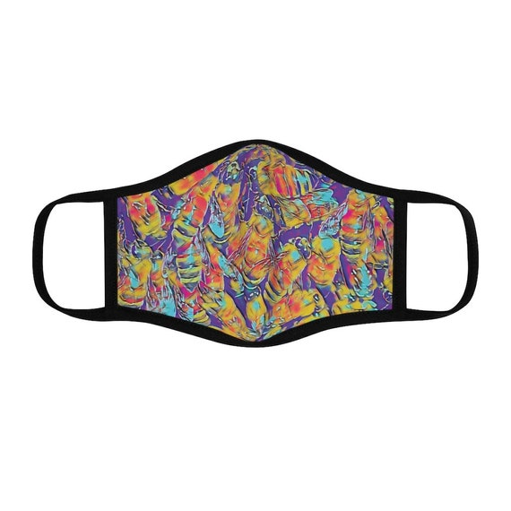 Filter Pocket Facemask-  Vibrant Bee Hive