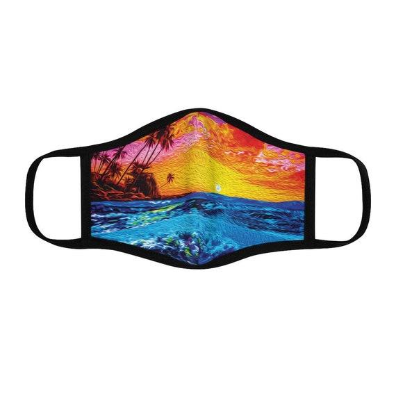 Filter Pocket Facemask- Tropical Reef Sunset