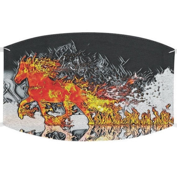 Facemask- Flaming Steed Fire Horse