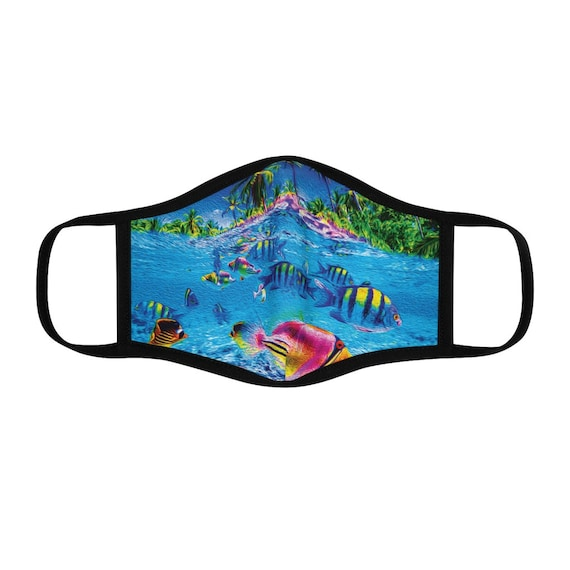Filter Pocket Facemask- Tropical Fish Underwater