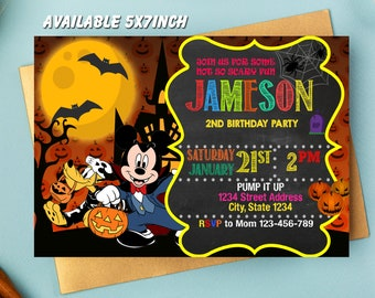 Mickey Mouse Clubhouse Halloween Invitation Mickey Mouse Clubhouse Invitation Mickey Mouse Invitation Mickey Mouse Birthday