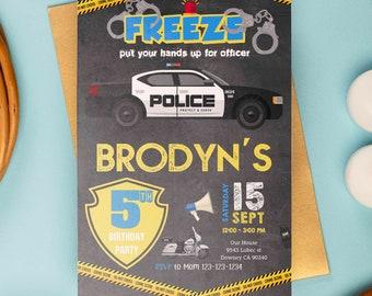 Police invitation, police birthday, police invite, police printable, police party, Birthday Kids, Kids Birthday
