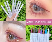 NOVO New Waterproof Long-lasting Eyeliner Colorful Matte Liquid Eyeliner Pencil Pigment Party Durable Natural Party TSLM1