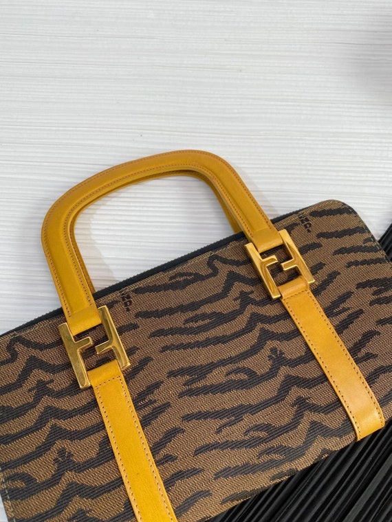 Authentic Vintage *Fendi* Chic small Zebra print … - image 4
