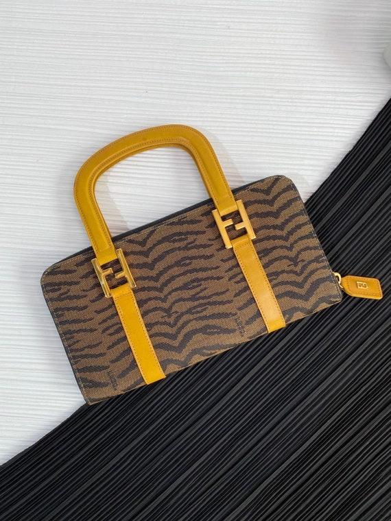 Authentic Vintage *Fendi* Chic small Zebra print … - image 2