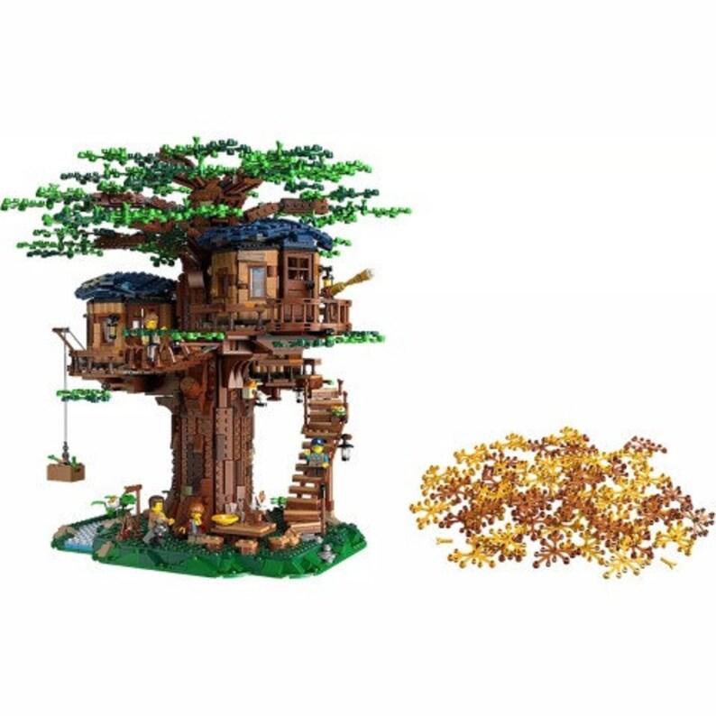 Building Block Set DIY Moc Tree House 3036 Pcs 6007, 21318