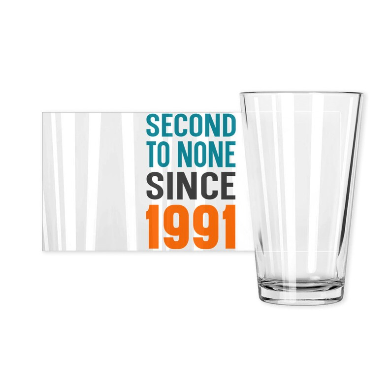 Gift for 30 Year Old 30th Birthday Gift for Men 1991 Birthday Beer Glass for Sons 30th Birthday Pint Glass for Beer Lover