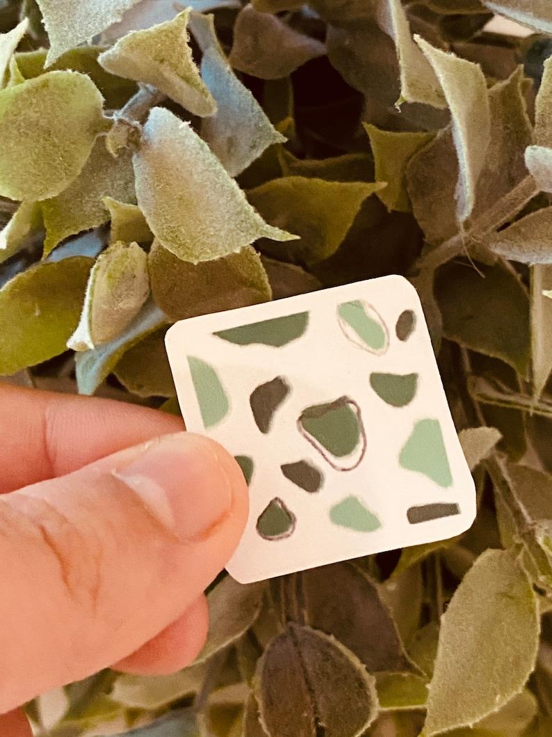 Green Cow Print Sticker