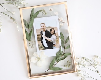 Polaroid Frame | Polaroid | Custom Polaroid | Pressed Flowers | Dried Flowers | Flower Frame | Gifts for Her | Anniversary | Polaroid Print