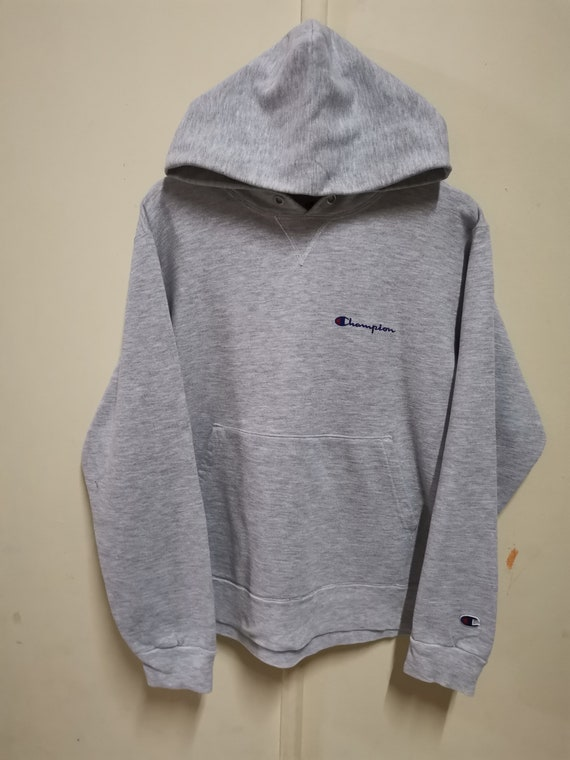 Champion Hoodie Pullover Grey Colour