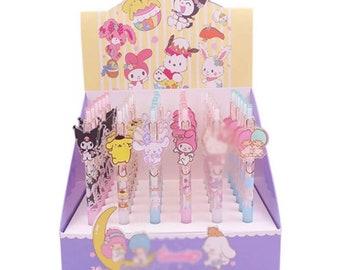 Hello Kitty and Friends Black Ink Gel Pens Hello Kitty Kuromi Purin Cinnamoroll My Melody Little Twin Stars