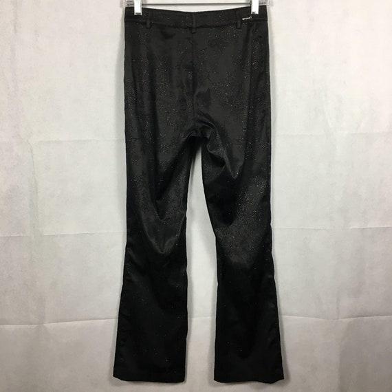 GUESS Vintage 1990s Black Printed Flare Pants Sz … - image 4