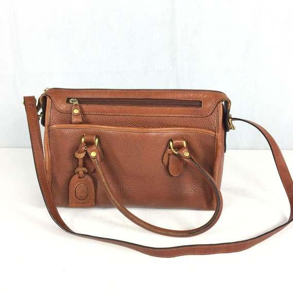 Liz Claiborne Vintage 1980s Brown Leather Structur