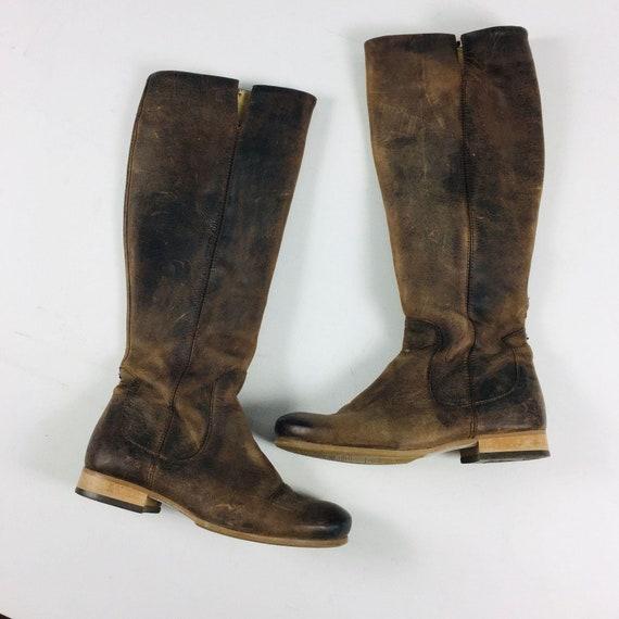 John Fluevog Brown Leather Boots Sz 8
